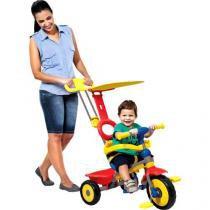 Triciclo Infantil com Empurador Bandeirante - Passeio com Porta-Objetos