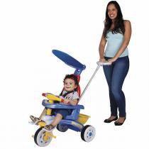 Triciclo Infantil Fit Trike Azul com Haste e Sons 3338 Magic Toys - Magic Toys