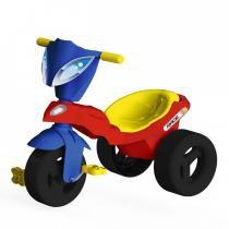 Triciclo Infantil Race com Baú Vermelho/Azul 07343 - Xalingo - Xalingo
