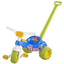 Triciclo Infantil Tico Tico Monster 2238 Azul Magic Toys com Haste - Magic Toys