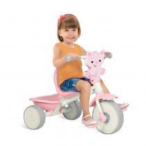 Triciclo Infantil Velobaby Fisher Price Rosa 2104 - Bandeirante - Bandeirante