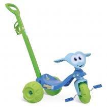 Triciclo Infantil Zootico Ursinho Passeio Azul/Verde 782 - Bandeirante - Bandeirante