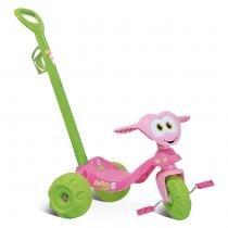 Triciclo Infantil Zootico Ursinho Passeio Rosa/Verde 783 - Bandeirante - Bandeirante