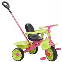 Triciclo Smart Plus com Haste Removível Rosa 272 - Bandeirante - Bandeirante