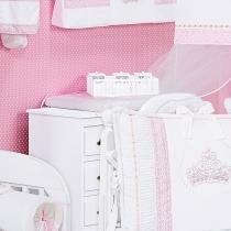 Trocador Plastificado Imperial Rosa - Batistela Baby - Rosa - Batistela