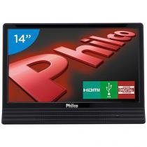 "TV LED 14"" Philco PH14E10D - Conversor Integrado 1 HDMI 1 USB"