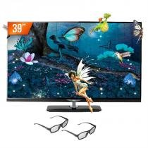 "TV LED 3D 39"" AOC Full HD 2 HDMI 1 USB Conversor Digital LE39D7430/20 + 4 Óculos 3D - AOC"