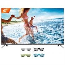 "TV LED 3D 42"" LG Full HD 2 HDMI 1 USB Conversor Digital 42LF6200 + 4 Óculos 3D - Lg"