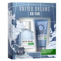 United Dreams Go Far Eau de Toilette Benetton - Kit de Perfume Masculino 100ml + Pós Barba 100ml - Benetton