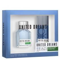 United Dreams Go Far Eau de Toilette Benetton - Perfume Masculino 100ml + Desodorante 150ml - Benetton