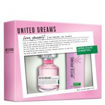 United Dreams Love Yourself Eau de Toilette Benetton - Perfume Feminino 80ml + Desodorante 150ml - Benetton
