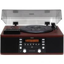 Vitrola TEAC LPR550 CD Fita Cassete - USB Rádio AM/FM