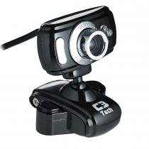 Webcam com Microfone USB 2.0 300K Preta WB2105-P - C3 Tech - C3 Tech
