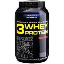 Whey Protein 3W Chocolate 900g - Proteína Isolada, Concentrada e Hidrolisada