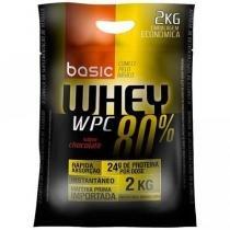 Whey Protein 80 % 2Kg Baunilha - Basic Nutrition