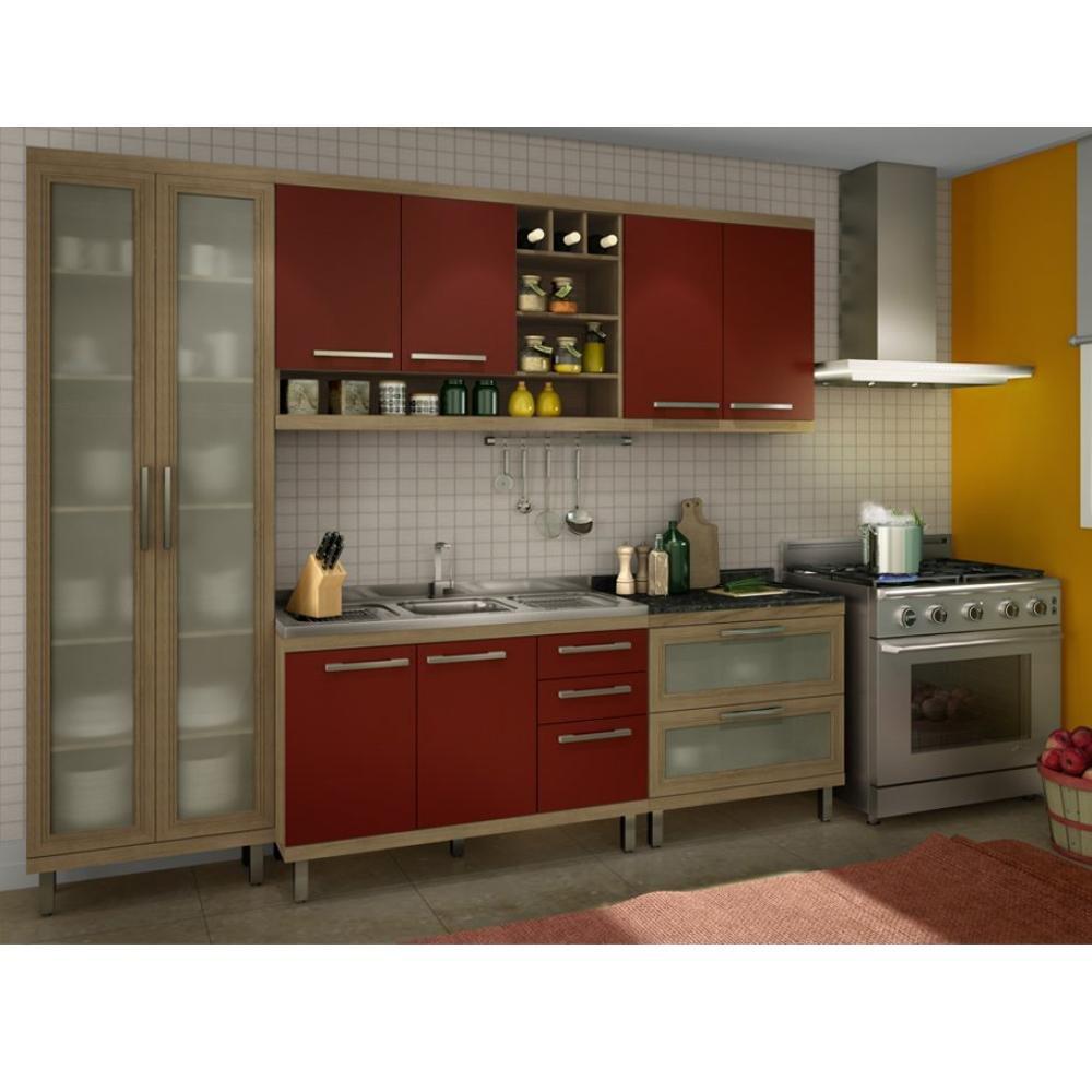 Ver Armario De Cozinha Magazine Luiza : Arm?rio de cozinha modulada slim pe?as ws m?veis para