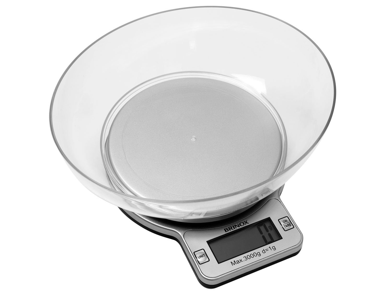 Balança de Cozinha Digital Brinox 1g até 3kg #2B2B2B 1500x1125 Balança De Banheiro Magazine Luiza