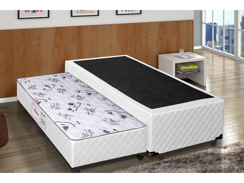 Box para colch o solteiro lightspuma 40 cm de altura com - Mesa auxiliar de cama ...