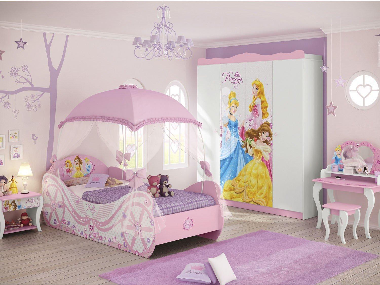cama infantil 88x188cm pura magia star princesas disney