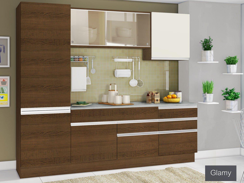 #397130 Cozinha Compacta Madesa Glamy Plus com Balcão 6 Portas 5 Gavetas  1500x1125 px Armario De Cozinha Compacta Glamy #1955 imagens
