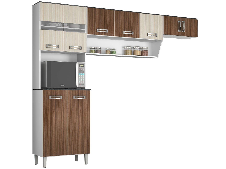 #694C38 Cozinha Compacta Poliman Móveis New Lívia 9 Portas Cozinhas  1500x1125 px Armario De Cozinha Compacta Marabraz_1489 Imagens