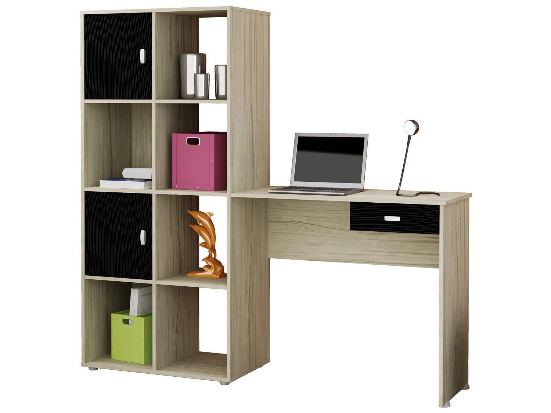 Escrivaninha/Mesa para Computador 2 Portas 1 Gaveta Artely América  #828F3C 1500x1125