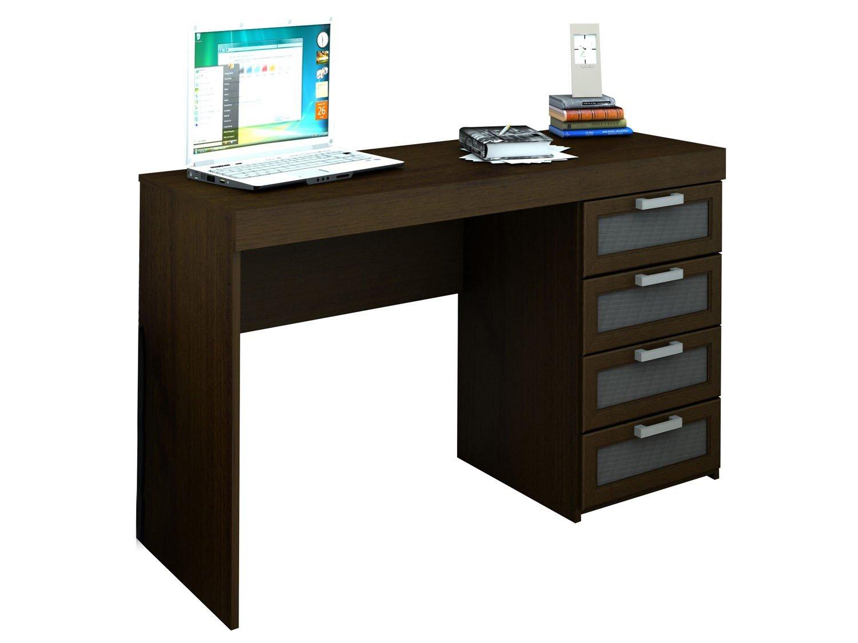 Escrivaninha/Mesa para Computador 4 Gavetas Politorno Malta  #17A3B4 1500x1125