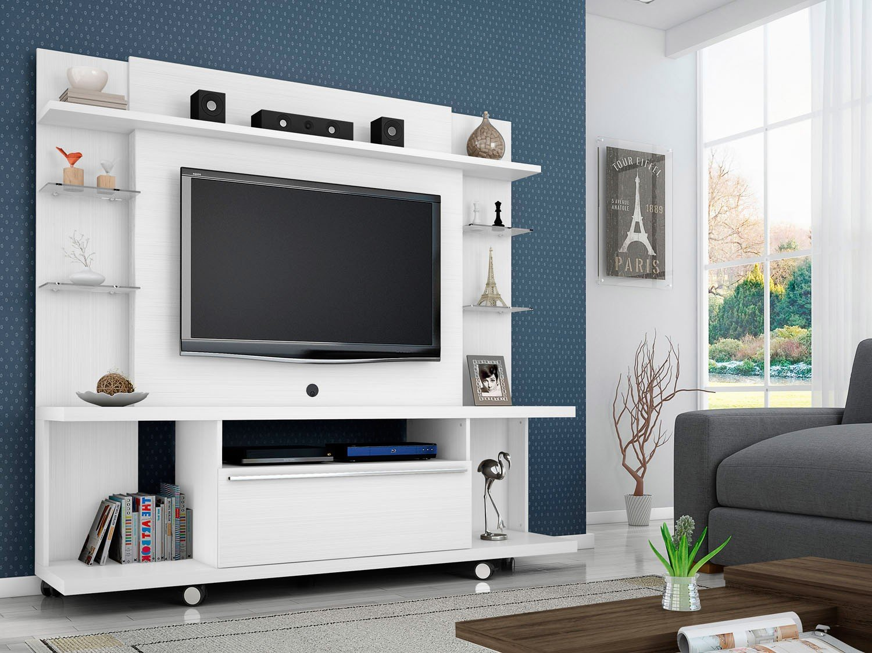 Estante Home para TV até 50 1 Porta 5 Prateleiras Móveis Bechara  #3B4F62 1500x1125