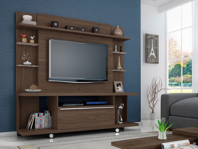 Estante Home para TV até 50 1 Porta 5 Prateleiras Móveis Bechara  #3D4F60 1500x1125