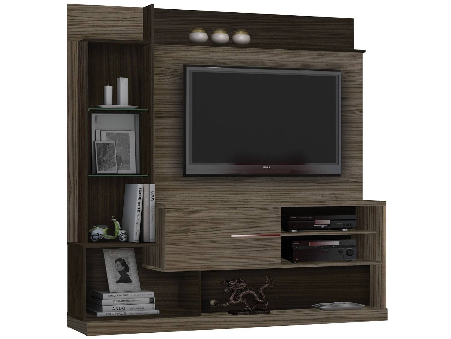 Estante home para tv at 55 dimas 1 porta 5 prateleiras - Estantes de pared originales ...
