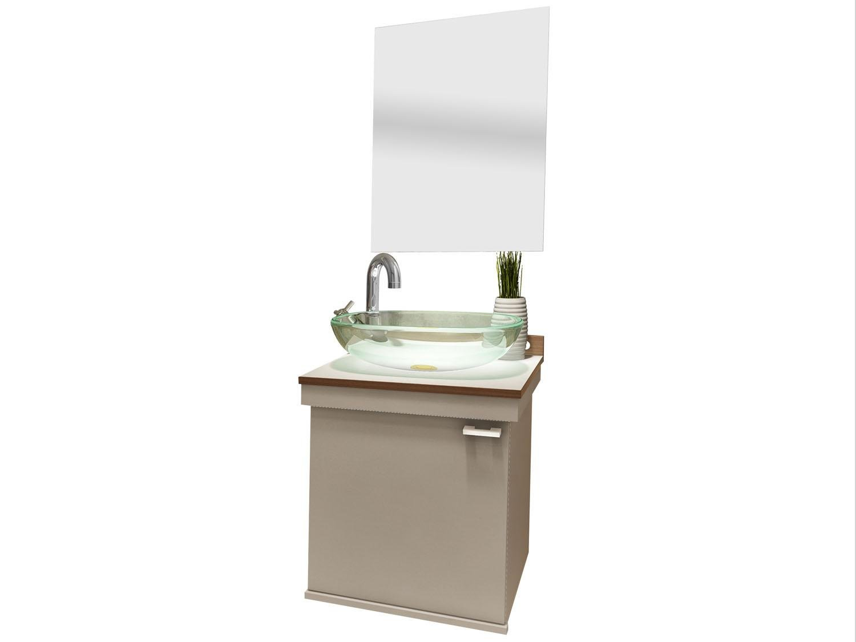 Gabinete para Banheiro com Cuba e Espelho 1 Porta VTec Kit Ara  #42361E 1500x1125 Armario Banheiro Vtec