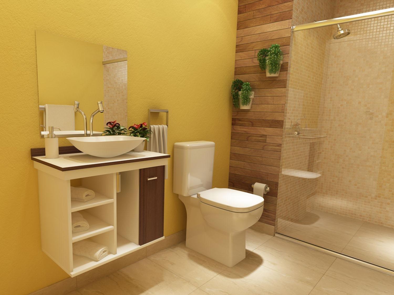 Gabinete para Banheiro com Cuba e Espelho 1 Porta VTec Kit Hadar  #A48427 1500x1125 Armario Vertical Banheiro