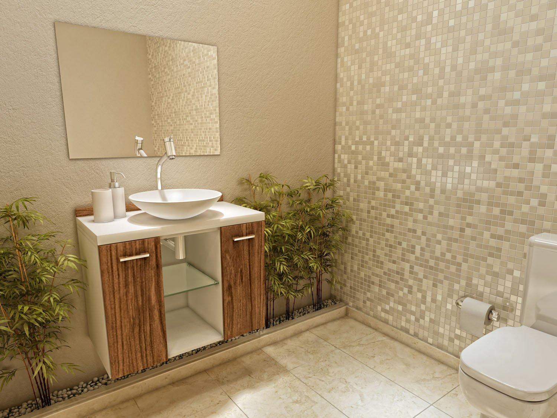 Gabinete para Banheiro com Cuba e Espelho 2 Portas VTec Terra  #433314 1500x1125 Armario Vertical Banheiro