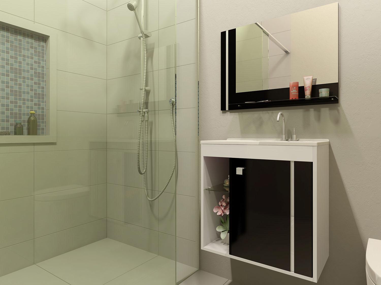 Gabinete para Banheiro com Espelho 1 Porta Móveis Bechara Veneza II #8F4F3C 1500x1125 Armario Banheiro Magazine Luiza