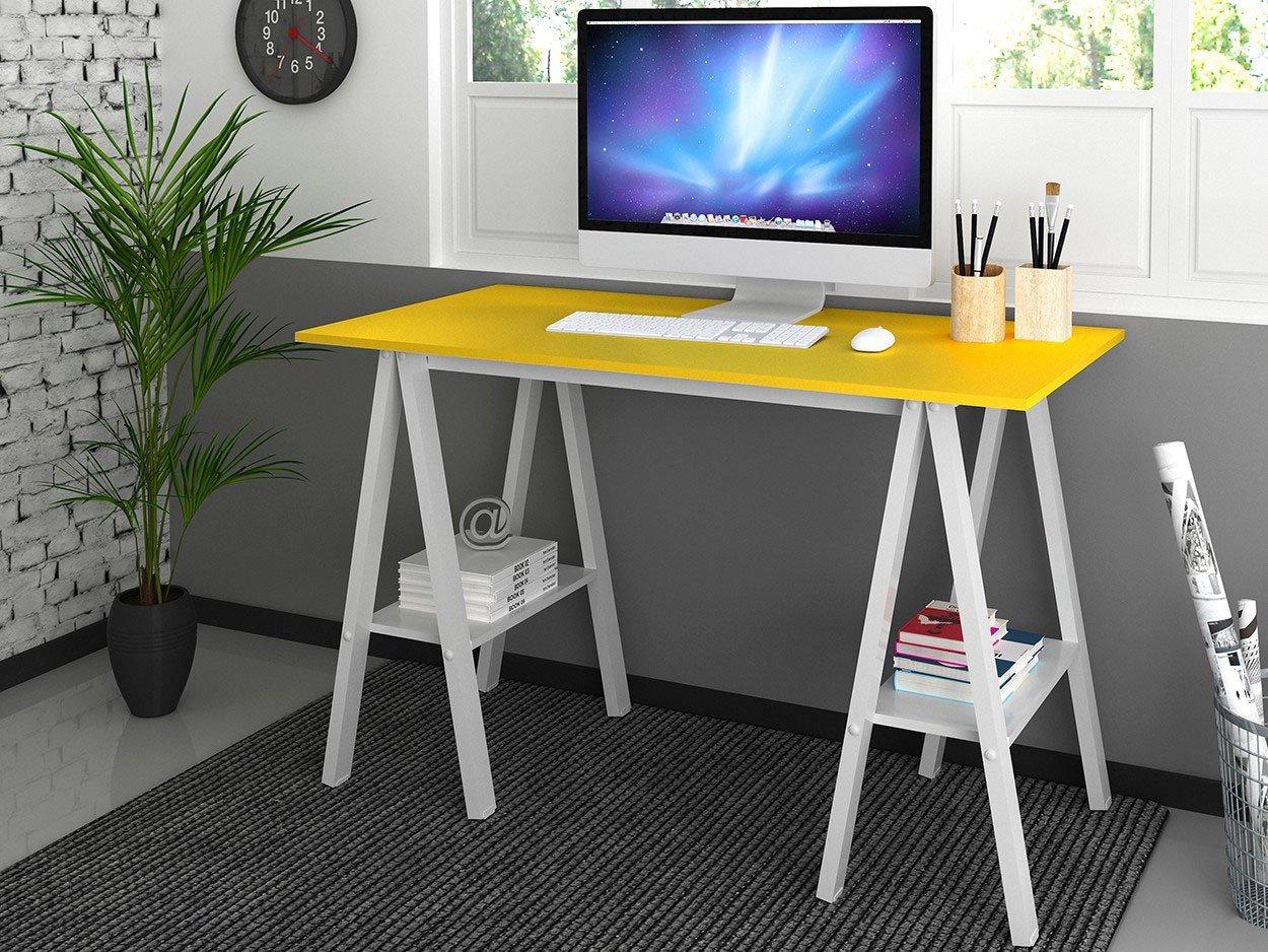 Mesa Cavalete Madesa Tutti Colors Amarelo Escrivaninhas e Mesas para  #0E6DBD 1250x938