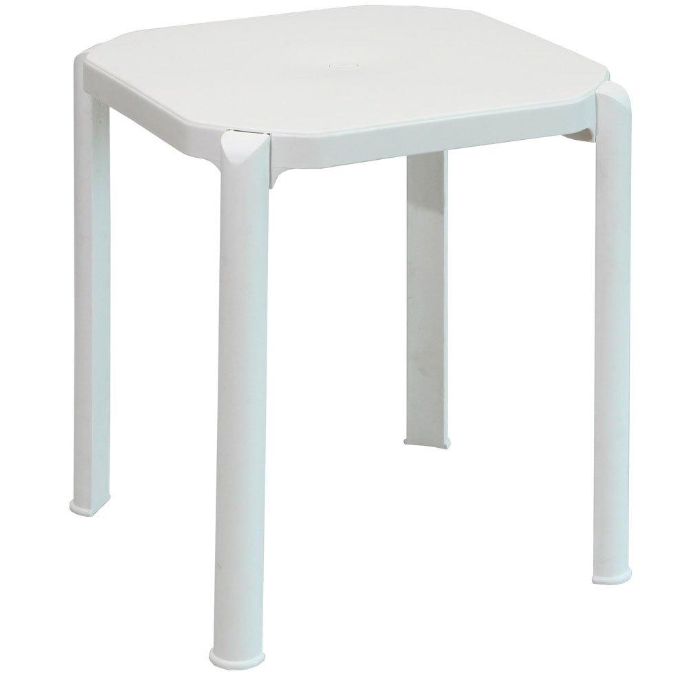 Mesa miami 60x60 cm branca branco grosfillex m veis for Mesa 60 x 60 extensible