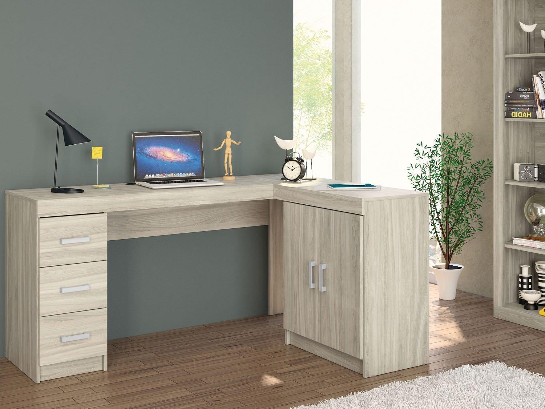 Mesa para Computador/Escrivaninha Kit Espanha 2 Portas 3 Gavetas  #396492 1500x1125
