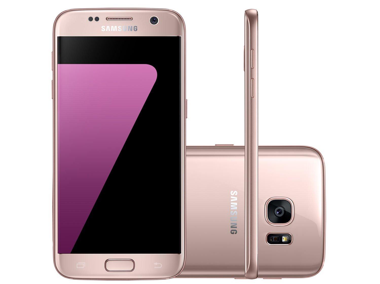 smartphone samsung galaxy s7 flat 32gb ros 4g c m 12mp selfie 5mp tela 5 1 quad hd. Black Bedroom Furniture Sets. Home Design Ideas