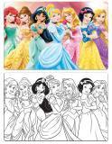 Quebra Cabeça Princesas para Pintar 100 Peças Jak