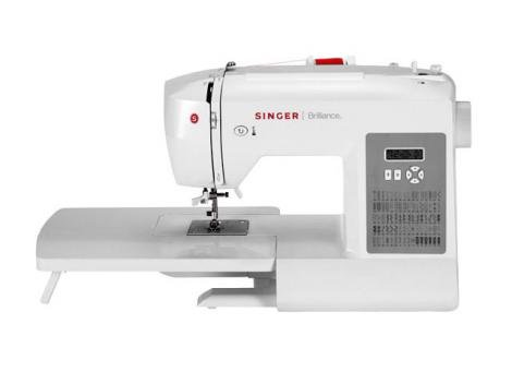 Máquina de Costura Singer Brilliance 6180 - com Mesa Extensora e Visor LCD e 74 Tipos de Ponto