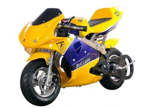Mini Moto Speed Bk-R6 C/Partida Easy Start 49cc - Freio a disco-susp. Alumínio-Gasolina- Bull Motors