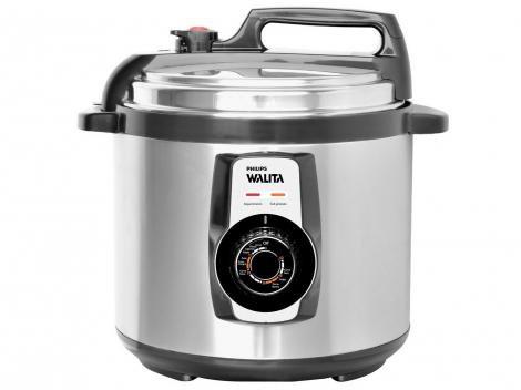 Panela de Pressão Elétrica Philips Walita Viva - RI3103 Inox 5L Timer Controle de Temperatura
