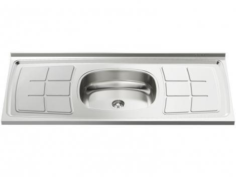 Pia de Cozinha Inox 120x52cm Ghel Plus - 00823/120