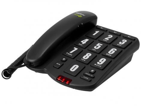 Telefone com Fio Intelbras Áudioplus - Compatível c/ Aparelhos Auditivos