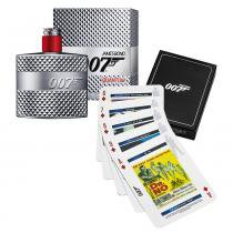 007 Quantum James Bond - Masculino - Eau de Toilette - Perfume + Jogo de Cartas - James Bond