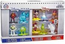 10 Bonecos Disney Pixar Nano Metalfigs Sulley Mickey Baymax Original - Jada toys