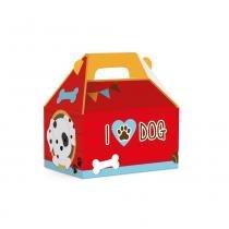 10 Caixas Maleta Kids Cachorrinhos M 12X8X12Cm Dec. Festas - Cromus
