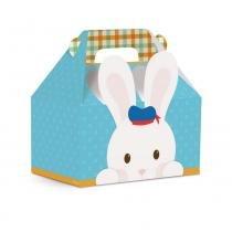 10 Caixas Maleta Kids Lembrancinha Orelha Azul M Dec. Festas - Cromus pascoa