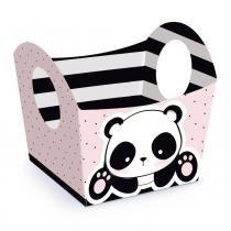 10 Cestas Mini Cachepot Decorativo Panda P 5,5X5,5X6Cm Festa - Cromus