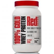 100 Gold Whey Protein 900G Red Series Baunilha - Proteina -
